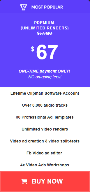 clipman lifetime premium unlimited renders