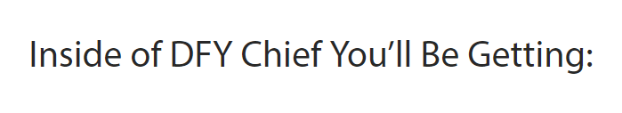dfy chief features