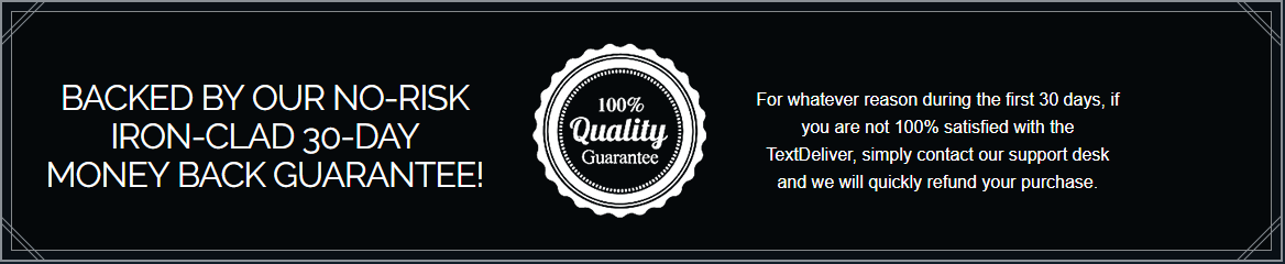 textdeliver 30 days guaranteed