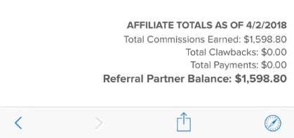 affiliate earnings after joining savage affiliate franklin