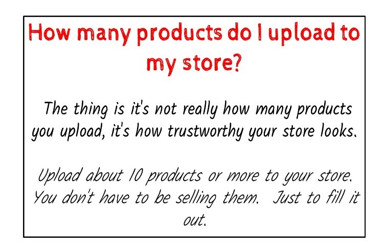how many products do i upload to my store