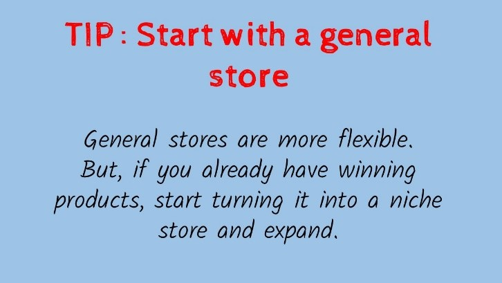 start with a general store